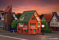 Vollmer Z Scale Building/Structure Kit Bakery with Town Houses/Homes