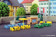 Kibri Z Scale Building/Structure Kit Fountain and Park Bench Accessory Set
