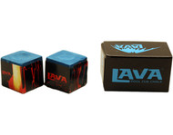 LAVA Premium Pool Billiard Cue Stick Chalk - Blue (2-Pack)