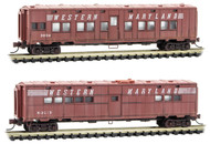 Micro-Trains MTL N-Scale Troop Train Cars Western Maryland/WM Weathered 2-Pack