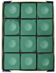 Silver Cup STANDARD GREEN Pool Billiard Cue Chalk (12 Pack)