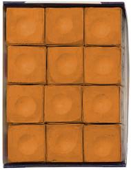 Silver Cup COPPER Pool Billiard Cue Stick Chalk (12 Pack)