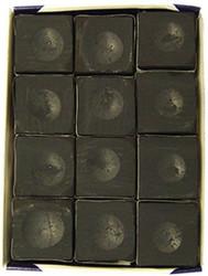 Silver Cup Black Pool Billiard Cue Stick Chalk (12 Pack)
