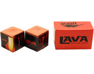 LAVA Premium Pool Billiard Cue Stick Chalk - Rust/Red (2-Pack)