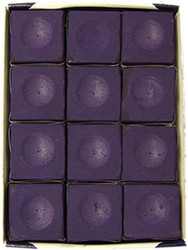 Silver Cup PURPLE Pool Billiard Cue Stick Chalk (12 Pack)