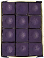 Silver Cup PURPLE Pool Billiard Cue Stick Chalk (12 Pack)