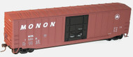Accurail HO Scale Kit 50' Exterior-Post Modern Box Car Monon (Black Door) #15012