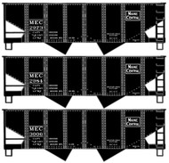 Accurail HO Scale Kit 2-Bay Hopper 3-Pack Maine Central/MEC #2973/2984/3006