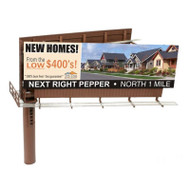 Atlas/BLMA Models HO Scale Modern Dual-Sided Billboard Sign with Various Ads