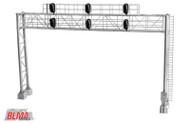Atlas/BLMA Models HO Scale Modern Triple Track Railroad Signal Bridge (Lighted)