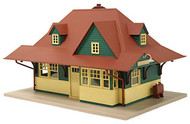 Atlas O Scale Model Train Building Suburban Passenger Station (Assembled)