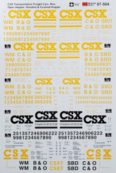 Microscale Model Railroad/Train Decals HO Scale CSX Freight/Box Cars/Hopper/Gons