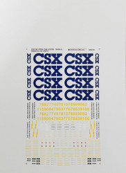 Microscale Model Railroad/Train Decals N Scale CSX GE Dash 8/Dash 9/AC Diesels