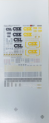 Microscale Model Railroad/Train Decals N Scale CSX/CSL/UMAX 48/53ft Containers