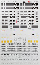 Microscale Model Railroad/Train Decals HO Scale Norfolk Southern/NS Bethgons