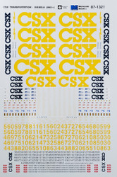 Microscale Model Railroad/Train Decals HO Scale CSX Diesels YN3 Yellow (2002+)