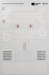 Microscale Model Railroad/Train Decals HO Scale Conrail/CR Quality GE Diesels