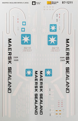 Microscale Model Railroad/Train Decals HO Scale Maersk Sealand/NS SD40 Diesels