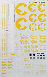 Microscale Model Railroad/Train Decals HO Scale Chessie System 60' & 86' Boxcars
