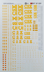 Microscale Model Railroad/Train Decals HO Scale CSX 60ft & 86ft Boxcars