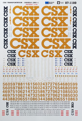 Microscale Model Railroad/Train Decals HO Scale CSX Diesels YN3 Gold (2002+)