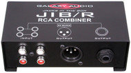 "Galaxy Audio Jacks in the Box - RCA Combiner - RCA Input /XLR & 1/4"" Output"