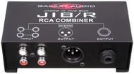 "Galaxy Audio Jacks in the Box - RCA Combiner - RCA Input /XLR & 1/4"" Output"