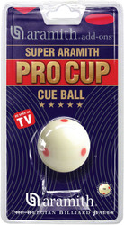 Super Aramith Pro Cup Red Dot Measles Cue Pool Billiard Ball