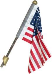 Woodland Scenics Just Plug Lighting System Wall Mount US Flag (Medium) w/ Light