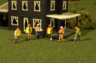 Bachmann HO Scale SceneScapes Figure Set Civil Engineers Workers 6-Pack