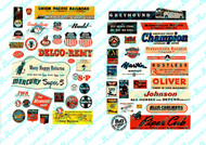 JL Innovative Designs HO Scale Detail - Planes/Trains/Industrial Signs 1940-1950