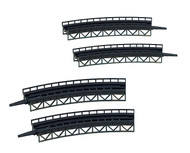 Faller Z Scale Structure Kit Curved Steel Bridges 195mm/225mm Radius (4-Pack)