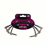 """Ernie Ball P06221 6"""" Flat Ribbon Patch Cable 3-Pack"""