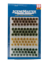 Walthers HO Scale Scenery Kit Short Mixed Grass/Weed Tufts (104-Pack)