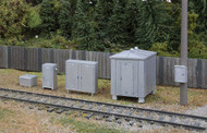 Walthers HO Scale Scenery Kit Vintage Trackside Detail Signal Cabinet/Phone Boxes
