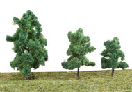 "Walthers SceneMaster HO Scale Summer Trees (10-Pack) 3-3/8 to 5-1/2"" w/ Pin Base"