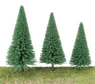 "Walthers SceneMaster HO Scale Pine Trees (10-Pack) 3-3/8 to 5-1/2"" w/ Pin Base"