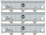 Accurail HO Scale Kit ACF 3-Bay Covered Hopper Canadian Pacific/CP Rail (3-Pack)