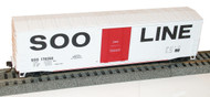 Accurail HO Scale Kit 50' Welded-Side Plug-Door Boxcar SOO Line/Red/White 178268