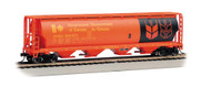 Bachmann HO Scale Cylindrical 4-Bay Grain Hopper Government Canada/CPWX (Orange)