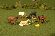 Bachmann O Gauge/Scale Figure Set Animals Horses (6-Pack)