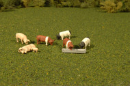 Bachmann O Gauge/Scale Figure Set Animals Pigs (9-Pack)