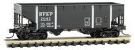 Micro-Trains MTL N-Scale 2-Bay Hopper Richmond Fredericksburg Potomac/RF&P #7047