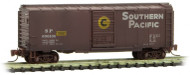 Micro-Trains MTL Z-Scale 40ft Single Door Box Southern Pacific Weathered #606106