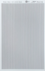 Microscale Model Railroad/Train Decal Set - 1/32 Inch Black Stripes/Lines