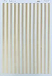 Microscale Model Railroad/Train Decal Set - 1/16 Inch Gold Stripes/Lines