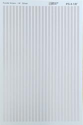 Microscale Model Railroad/Train Decal Set - 1/8 Inch Silver Stripes/Lines