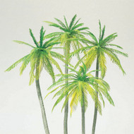 Preiser HO Scale Model Railroad Scenery Tropical Palm Trees (Kit) 4-Pack