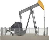 Atlas O Scale Building/Structure Operating Oil Pump (Assembled) Orange/Black