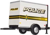Atlas HO Scale Standard Single-Axle Box Trailer (Assembled) Police (911 & Badge)